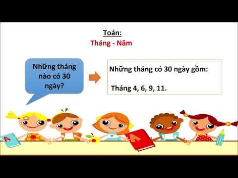 Toán lớp 3 Bài Tháng Năm