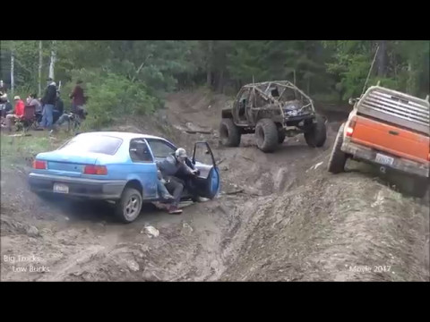 Toyota Tercel at Moyie Mud Bog creek trail