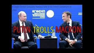 "Putin Pokes Fun At Macron Over ""Huge"" French Investments In Russia"
