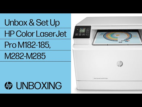 How to Unbox and Set Up the HP Color LaserJet Pro M182-185 and M282-M285 Printer Series