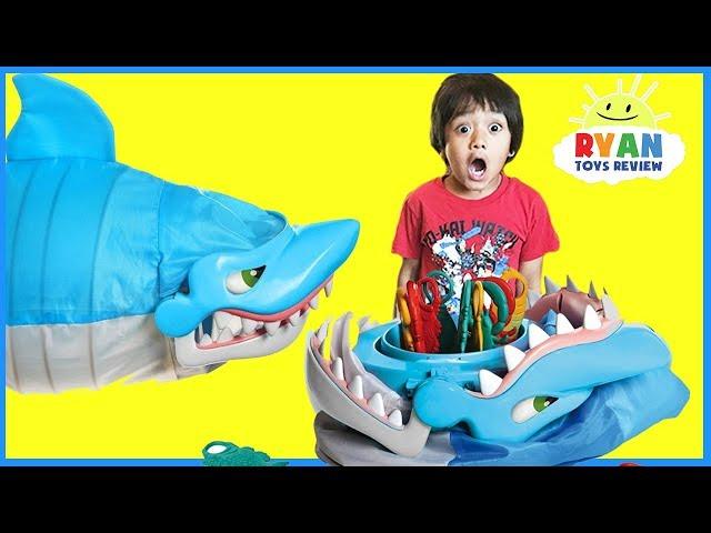 Shark Bite Let's Go Fishin' Family Fun Games for Kids!