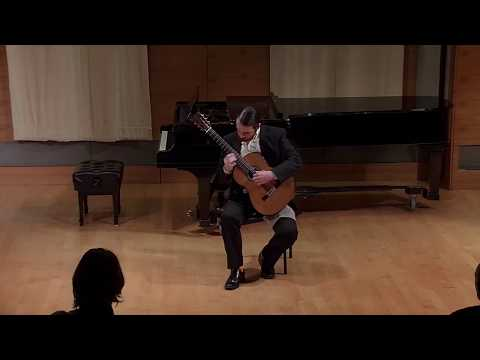 A clip from my first graduate recital at SFCM, of a piece by Paraguayan guitarist Agustin Barrios.