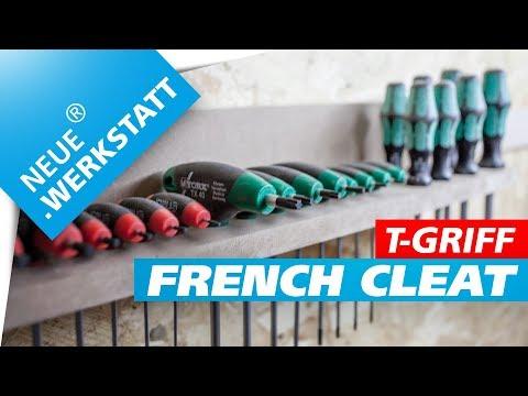 Werkzeughalter Anleitung /// für eine french cleat Werkzeugwand // T-Griff  + Steckschlüssel / DIY