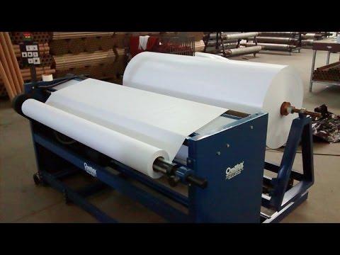 Rebobinadeira de Papel Kraft ou Sublimático - Mod. Om-RBPA - Omatex Máquinas Têxteis