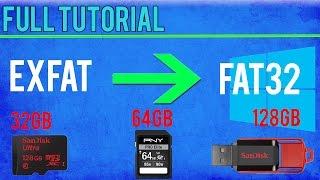 Format 64GB+ SD Card/Memory Stick to FAT32 Win 10/8.1/8/7/Vista