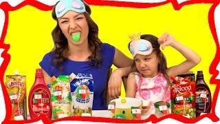 МАРШМЕЛЛОУ против НАСТОЯЩЕЙ Еды ЧЕЛЛЕНДЖ Самые Ужасные Начинки Candy VS Real Food Challenge Вики Шоу