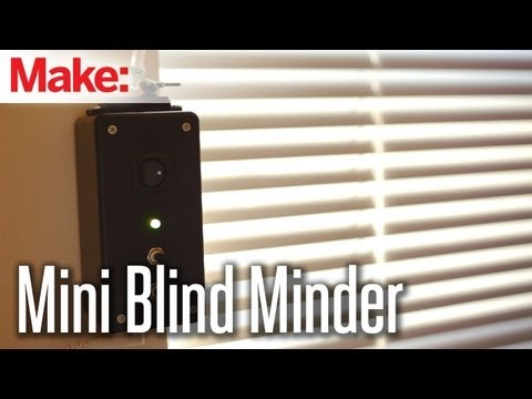 This DIY Blind Minder Automatically Opens And Closes Your Blinds