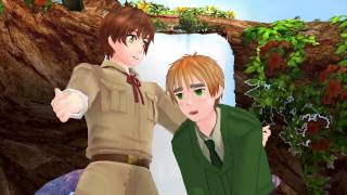 【APH MMD】Uk & Spain ☆ Anything you can do, I can do better ♫