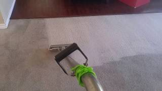 Carpet cleaning in Utah County with a carpet cleaning wand