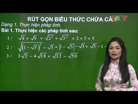 Toán 9-Rút gọn biểu thức chứa căn- GV- Hoàng Vân Khánh- THCS Hoàng Văn Thụ- tp Lạng Sơn