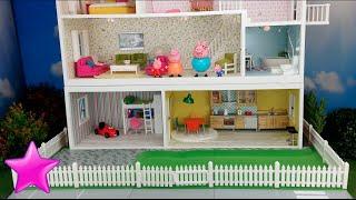 Peppa Pig en español Novela 11ª# LA CASA DE PEPPA PIG Dormitorio nuevo. Casas de muñecas.