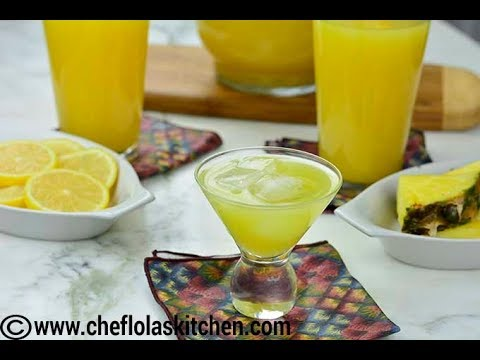 Video Drink Recipes: Lemon Ginger Pineapple Juice | Afropotluck