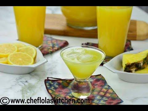 Drink Recipes: Lemon Ginger Pineapple Juice | Afropotluck