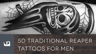 50 Traditional Reaper Tattoos Tattoos For Men