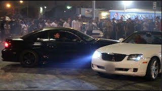 MUSTANG CRASHES AT THE CAR MEET! We Made It On The News..
