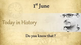 Today in History: 1st June | What happened on this day in History? | Hindi | AV EduTech