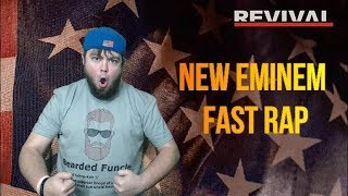 RAPPING THE *NEW* EMINEM FAST VERSE FASTER THAN EMINEM (FIRST SPED UP COVER OF EMINEM'S OFFENDED)