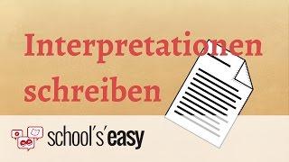 Wie Schreibt Man Eine Analyse Und Interpretation Deutsch Grammatik