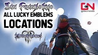Kingdom Hearts 3 - San Fransokyo - All Lucky Emblems Locations