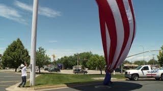 Raising A Large Flag On An External Halyard Flagpole