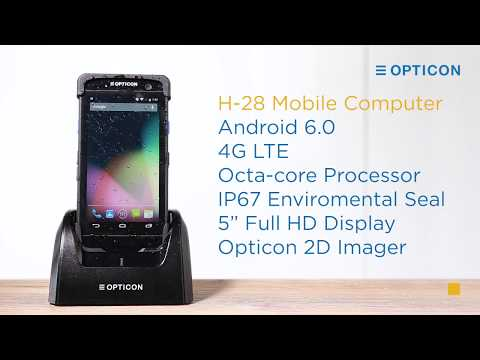Opticon H-28 Rugged Android Mobile Computer video thumbnail