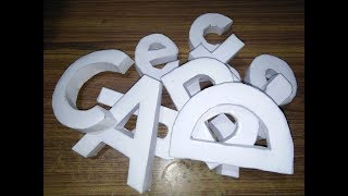 How To Make 3d Paper Letters