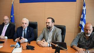 Συνάντηση με τον Πρόεδρο του Ε.Ε.Σ Αντώνιο Αυγερινό