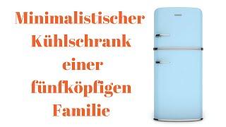 Mini-Kühlschrank einer fünfköpfigen Familie