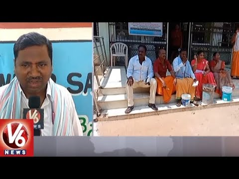 CPI Counsellors Protest In-front Of Kothagudem Municipality Office Over Water Problems | V6 News