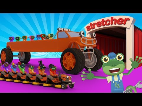 Stretching Trucks With Gecko's Garage | Truck Cartoons For Children