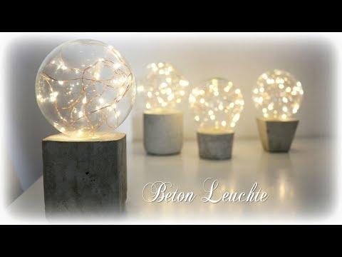 Beton Leuchte mit LED Lichterkette * DIY * Concrete Lamp [eng sub]