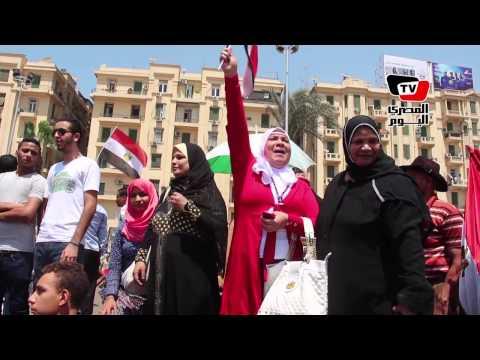 احتفالات قناة السويس الجديدة| أعلام مصر تزين ميدان التحرير
