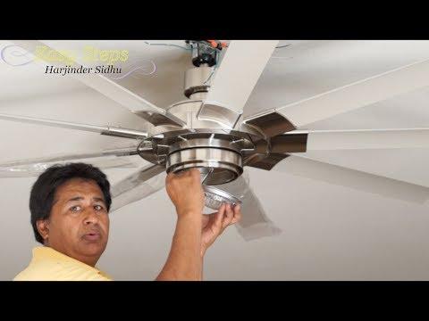 How To Install 72 Inch Ceiling Fan   SLINGER II Fanimation Ceiling Fan