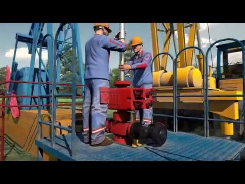 Oil Drilling Equipment 3D Animation