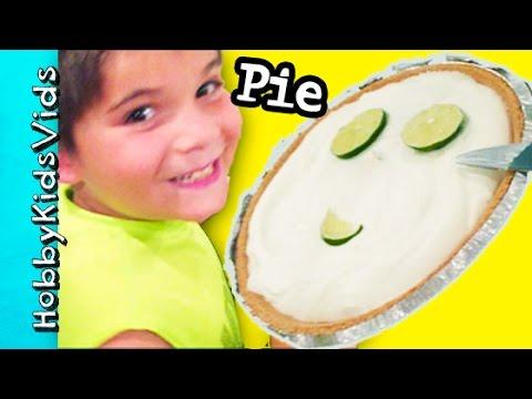 Make Kids Pie Dessert! Fast Easy Yogurt Recipe with HobbyMom HobbyKidsVids