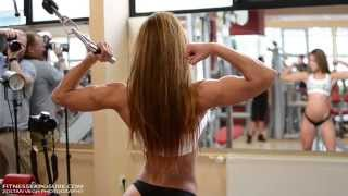 Petra Szabo Fitness Model Gym Photoshooting Video Part I.