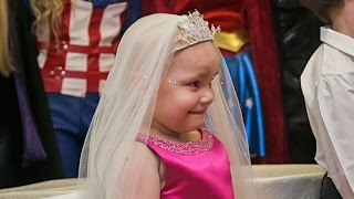 """Terminally ill 5-year-old girl gets dream """"wedding"""" with best friend"""