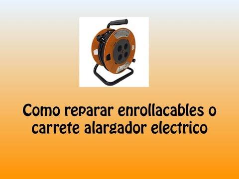 Como reparar enrollacables o carrete alargador electrico