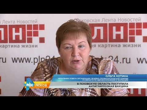 Новости Псков 14.08.2017 # Поступила антигриппозная вакцина