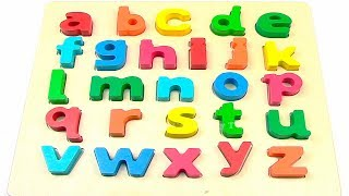 ABC Song For Kids | Learn Alphabet from a to z with Wooden Toys | Transport for Kids | Phonic Song