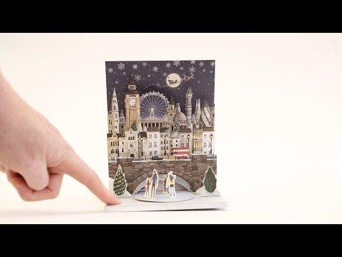 London scene musical pop-up Christmas card