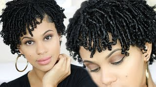 How To: Finger Coils On Short, Natural Hair