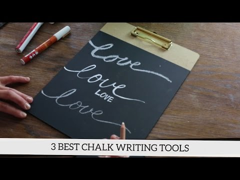 How to Write on a Chalkboard: The 3 Best Chalk Writing Tools
