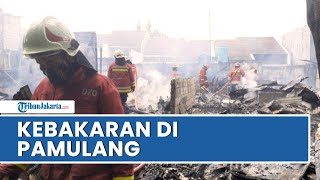 Berawal Api Muncul dari Rumah Kontrakan Kosong, Total 2 Rumah Ludes Terbakar di Pamulang