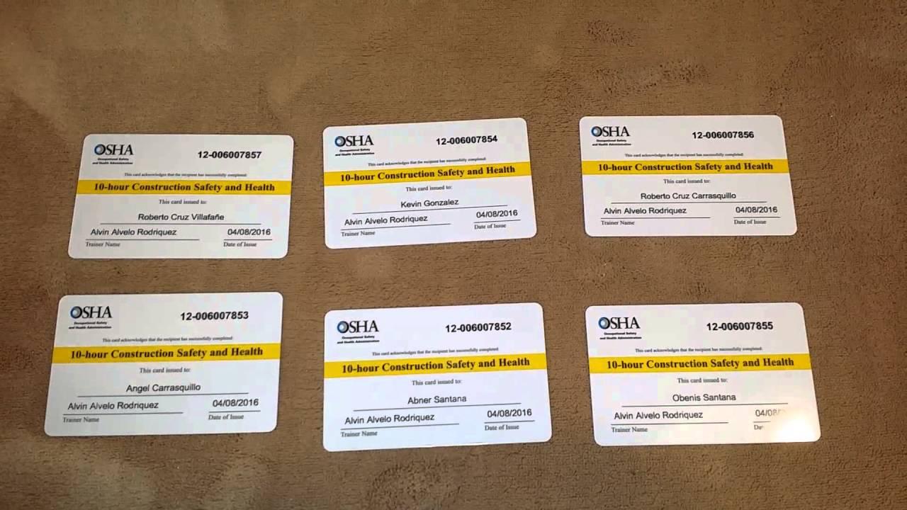 Curso de Salud y Seguridad Ocupacional (OSHA)