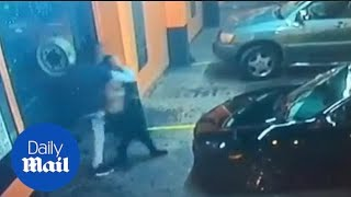 CCTV video shows woman being abducted and taken away in car