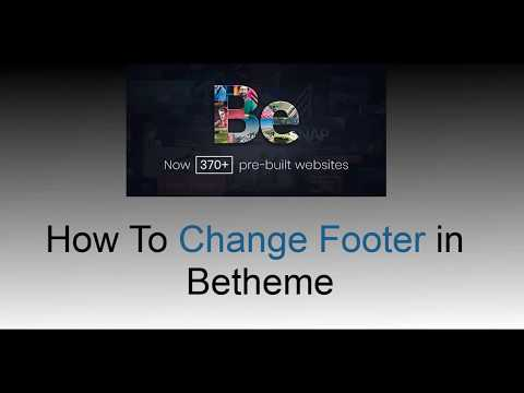 How To Change Footer in Betheme