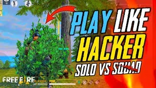 2 AWM Play Like Hacker in Solo vs Squad Match - Garena Free Fire- Total Gaming