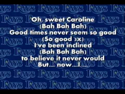 Sweet Caroline - Neil Diamond - Lyrics
