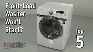 Washer Won't Start — Washing Machine Troubleshooting